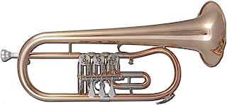 eastman TFH-371 喇叭 B (3 个旋转阀) Bugle 金色黄铜喷漆,黄色