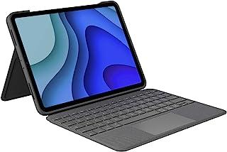 Logitech Folio Touch iPad 保护套键盘,轨迹垫和智能连接器,适用于 11 英寸 iPad Pro (型号:A1980,A2013,A1934,A1979,A2228,A2068,A2230,A22311 ) 石墨色