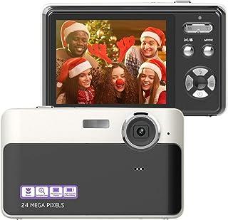 数码相机 2400 万像素相机 2.4 英寸 TFT LCD 数码相机迷你摄像机和拍摄相机,适合儿童青少年初学者