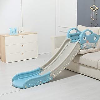 GAKINUNE 儿童沙发滑梯便携式塑料加长板儿童*个滑梯适合幼儿室内玩具组合游戏在后院游乐场玩具,适合 24 个月以上的宝宝男孩女孩海豚灰色