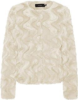 VERO MODA 女士 Vmcurl 短款人造毛皮夹克 Ga 夹克