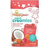 Happy Baby 禧贝奶油冷冻干果蔬零食,含椰奶、草莓、覆盆子及萝卜,1 盎司(约 28.3 克)不含乳制品的婴幼儿…