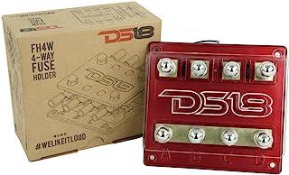DS18 FH4W 4 路保险丝支架带 12 伏红色 LED 电源指示灯