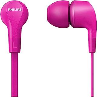 Philips 飞利浦 入耳式耳机 E1105PK/00 带直列遥控器(8.6 毫米钕驱动器,强大的低音,清晰的声音,舒适贴合)粉色 – 2020/2021型号