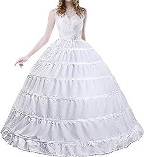 女式 Crinoline 衬裙 A 字型 6 圈裙滑裙 婚礼新娘礼服 舞会礼服 及地