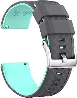Ritche 硅胶表带 18 毫米 20 毫米 22 毫米快速释放橡胶表带 男女款
