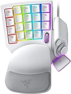 Razer 雷蛇 Tartarus Pro 游戏键盘:模拟光学按键开关 - 32 个可编程按键 - 可定制Chroma RGB 照明 - 可编程宏 - 可变按键压力灵敏度 - 水星白