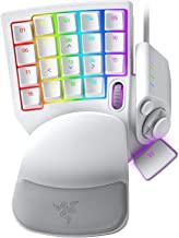 RAZER 雷蛇 Tartarus Pro 游戏键盘:模拟光学按键开关-32个可编程按键-可自定义的色度RGB照明-可编程宏-可变按键压力感度-水银白