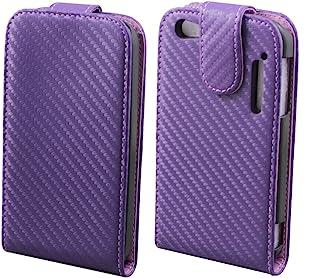 Alcatel OT-995 Colorfone Carbo Chic 翻盖手机壳氯丁橡胶紫色