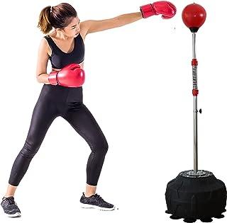 带支架的打孔袋健身训练器材儿童独立式飞球 站立式打孔袋适用于成人重型拳击反射袋平台拳击套装
