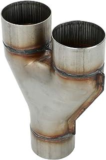 LucaSng T409 不锈钢排气双面 Y 管 7.62 厘米单至 7.62 厘米双排气管适配器连接器,总长度:约 25.4 厘米,通用