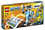 LEGO 乐高 17101 Boost 创意工具箱机器人套件,5 合 1 应用程序控制构建模型,带可编程互动机器人玩具和蓝牙集线器,儿童编码套件