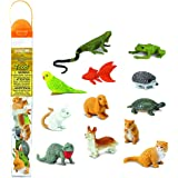 Safari Ltd. Pets TOOB - 包括 12 个不含 BPA、邻苯二甲酸盐和铅的手绘雕像 - 适合 3 岁…