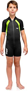 Cressi Shorty Wetsuit for Kids, Premium Neoprene - Ages 2, 3, 4, 5, 6, 7, 8, 9, 10