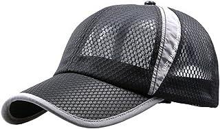 女式男式速干网眼棒球帽透气*帽可调节网球高尔夫钓鱼帽