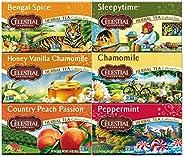 Celestial Seasonings 草本茶 混合包装,20 包(6 件)
