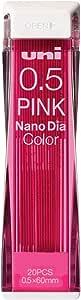 MITSUBISHIPENCIL 三菱铅笔 可擦彩色笔芯 纳米钻颜色 0.5 粉色 10个