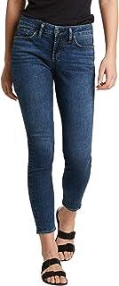 Silver Jeans Co. Suki 女士修身中腰紧身牛仔裤