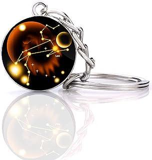 JWPavilion 星座 12 星座夜光创意银河钥匙扣
