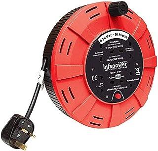 INFAPOWER X812 4 插座 13 A 10 米电钻 - 父线X812 4 Socket Drum 10 m