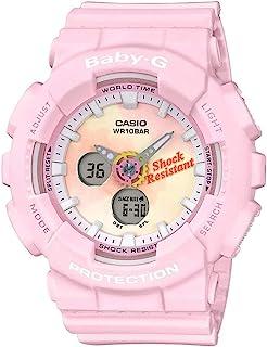 Casio 卡西欧 BA120TG-4A 女式粉色模拟数字闹钟计时刻度表盘 Baby G 手表