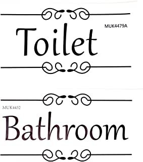 Honbay 门贴卫生间贴纸浴室贴纸防水可移除