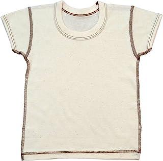 有机棉罗纹半袖圆领衬衫 no10134日本制造 米黄色 90