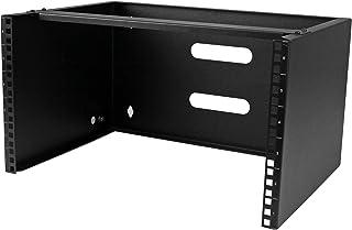 """StarTech.com 6U 壁挂式网络设备机架 - 14英寸(约35.56 厘米)深 -19""""(约48.26 厘米)服务器设备接插板支架 - 20 千克容量(WALLMOUNT6),黑色"""