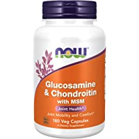 NOW Foods 诺奥 补充剂 葡萄糖氨关节软骨素 含有MSM,180胶囊