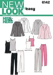 New Look Sewing Pattern 6142 Miss/Men Separates, Size A (All Sizes)