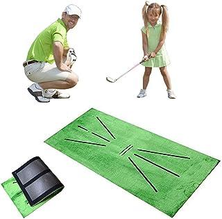 Utiffeba 高尔夫训练垫,挥杆检测击球高尔夫辅助练习垫,适合家庭户外成人儿童高尔夫学习游戏礼物