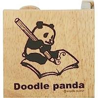 VISION QUEST 胶带切割器 杜德熊猫 涂鸦 木制