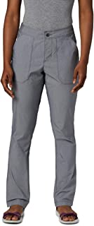 Columbia Women's Longer Days Pant, City Grey Heather, 4 x Regular