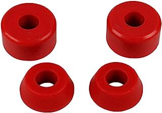 滑板长板卡车替换衬套 4 件装(适用于 2 辆卡车) - 多种颜色和硬度计(96A 红色)