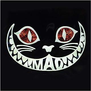 柴郡猫 Mad 猫咪 镶嵌贴纸贴花 适用于吉他和贝斯,乌克莱 (WT)