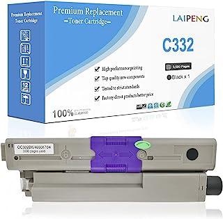 兼容硒鼓黑色 OKI C332 MC363 C332dn MC363dn C332dnw MC363dnw 46508704 打印卷 3500 页 适用于 OKI Okidata 彩色激光打印机