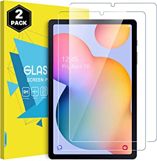 MoKo 平板电脑屏幕保护膜兼容 Galaxy Tab S6 Lite 2020,[2 件装] HD 9H 硬度钢化玻璃,防指纹,贴合三星 Galaxy Tab S6 Lite 10.4 2020 SM-P610/P615 - 透明