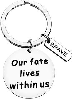 鼓励钥匙扣励志礼物,适合女士、男士、青少年、女孩、男孩、我们的命运生活在我们钥匙链、儿子女儿的生日礼物,毕业生日,送给情侣朋友家庭的圣诞节礼物