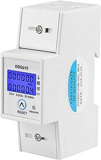 LANTRO JS - DDS015 单相能量计,5-80A 230V 50Hz 数字 LCD 单相能量计瓦特表 DIN 导轨安装