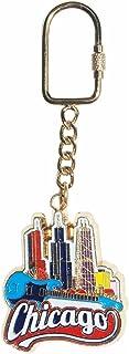 芝加哥纪念品钥匙扣,著名芝加哥天际线
