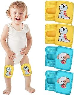 婴儿爬行护膝(4 双),可调节婴儿/幼儿护膝,爬行护膝,保护护膝
