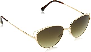 Vince Camuto 女式 Vc787 金黄铱 Cateye 太阳镜,金色,60 毫米