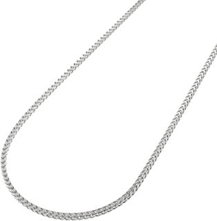 Pori Jewelers 正品铂金 950 实心钻石切割法式/方形盒子链项链 -1.0mm 厚
