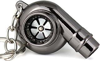 maycom 创意袖子旋转 Turbo Turbine turbocharger 钥匙扣钥匙链钥匙圈 keyfob Whistle Gunblack 小号