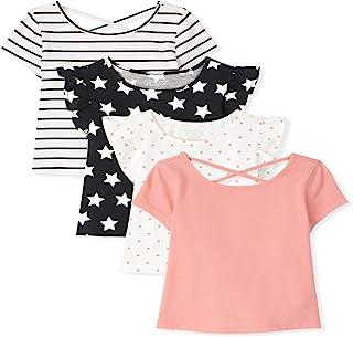 The Children's Place 幼儿女孩基本款分层T恤和背心 4 件装