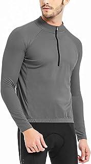 Catena 男式骑行运动衫长袖衬衫跑步上衣吸湿排汗锻炼运动 T 恤 灰色 XX-Large