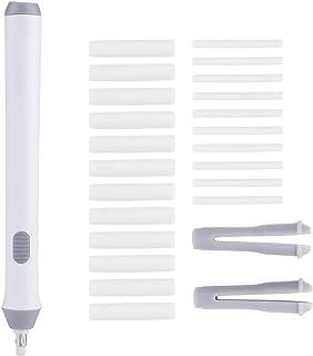 Zerodis 电动橡皮擦电池自动铅笔橡皮擦,带 22 个橡皮擦替换装(白色)