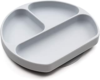 Bumkins Silicone Grip Dish, Gray