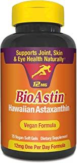 BioAstin Hawaiian Astaxanthin 夏威夷虾青素——12mg,75粒——夏威夷生长的高级抗氧化剂——支持运动+关节,皮肤,眼部的恢复