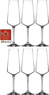 RCR Cristalleria Italiana Aria 系列 6 件套水晶酒杯套装 Champagne Flute (12 oz)
